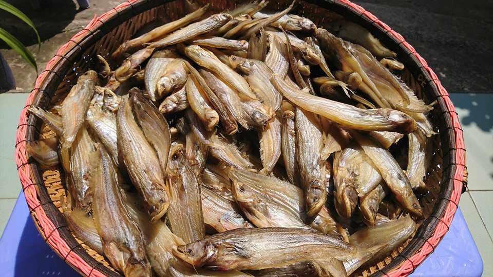 Khô cá trèn rất nổi tiếng và được nhiều khách du lịch An Giang mua về làm quà.