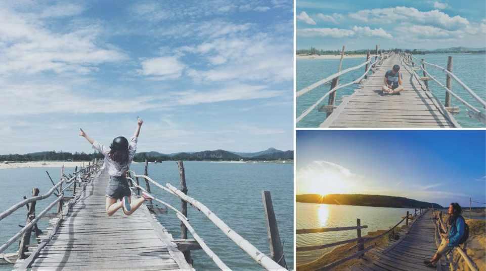 Rất nhiều bạn trẻ thích đến cây cầu gỗ này để sống ảo lắm đấy. Tour phu yen, du lịch phú yên.