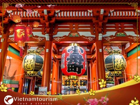 Tour Du lịch Nhật Bản Tết Âm lịch 4 ngày 3 đêm từ Sài Gòn giá tốt 2018