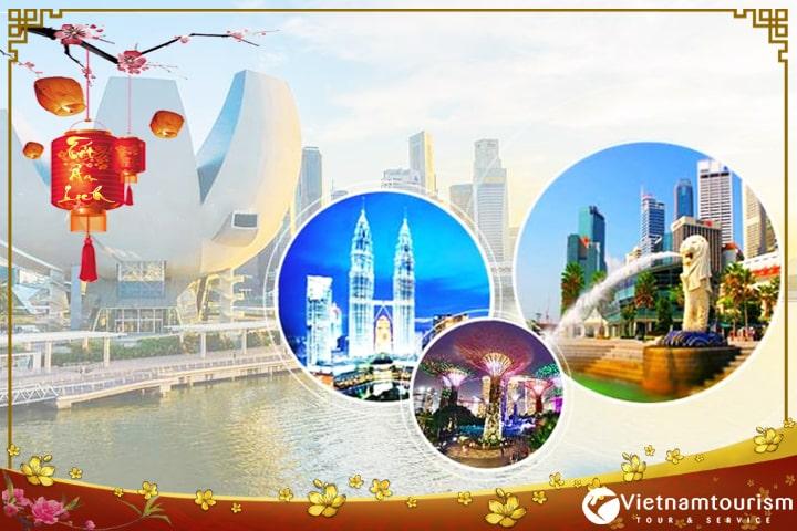 Du lịch tết Singapore Malaysia Indonesia 5 ngày 4 đêm giá tốt từ Sài Gòn