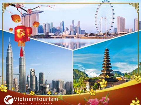 Du lịch Tết Âm lịch Singapore Malaysia Indonesia 5 ngày 4 đêm giá tốt từ Hà Nội